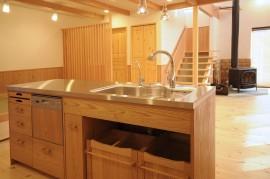 木製手づくりキッチン